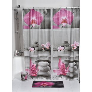 Chic and Zen Printed Single Shower Curtain