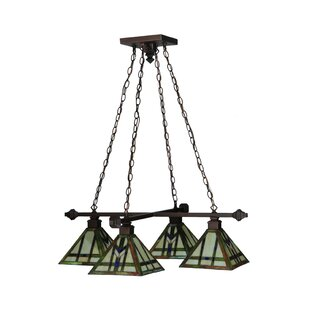Meyda Tiffany Prairie Wheat 4-Light Shaded Chandelier