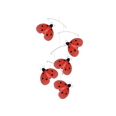 Ladybug Shimmer Nylon Hanging Mobile Bugs-n-Blooms