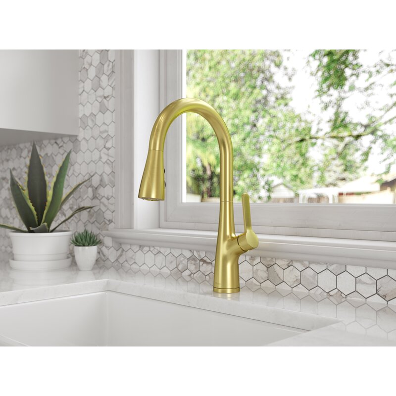 Pfister Neera Pull Down Single Handle Kitchen Faucet Reviews Wayfair