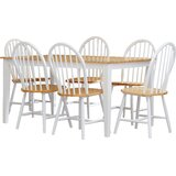 Frohna 7 - Piece Solid Wood Dining Set by August Grove®
