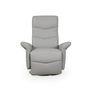 Dayse Motor Leather Power Swivel Recliner