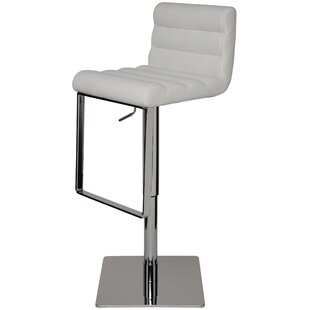 Fanning Adjustable Height Swivel Bar Stool by Nuevo Wonderful