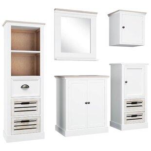 Deals Price Galvin 5 Piece Bathroom Storage Furniture Set