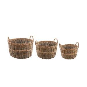 3-tlg. Korb-Set aus Weidenholz von Castleton Home