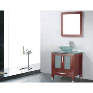 Reviews Adrian 24 Single Bathroom Vanity Set with Mirror ByAdornus