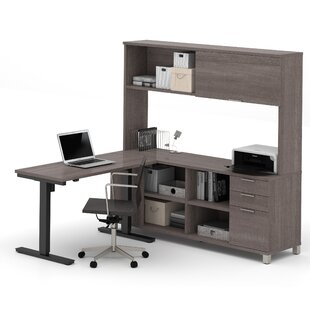 Mercury Row Ariana L-Shape Desk Office Suite