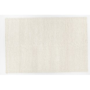 Look for Ambrose Hand-Woven White Area Rug By Foundry Select
