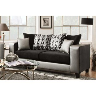 Rockleigh Shimmer Silver Sofa by Latitude Run