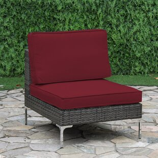 Iokaste Wicker Middle Patio Chair with Cushion