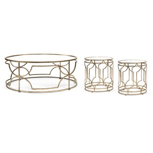 Taraji 3 Piece Coffee Table Set Willa Arlo Interiors