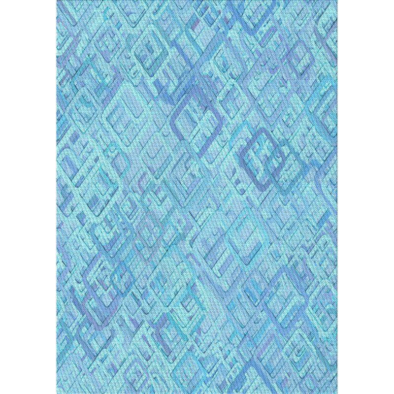 East Urban Home Geometric Wool Light Blue Area Rug Wayfair