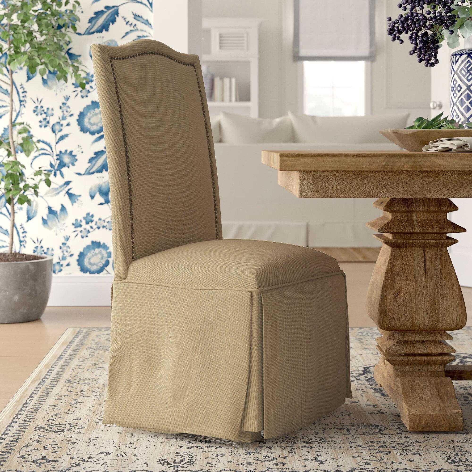 Groovy Alison Skirted Upholstered Parson Chair Pdpeps Interior Chair Design Pdpepsorg