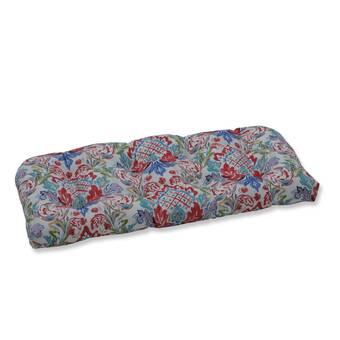 Highland Dunes Earls Blooms Wicker Indoor Outdoor Loveseat Sofa Cushion Wayfair