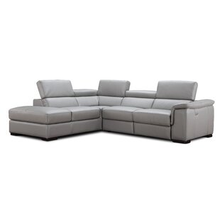 Cropsey Leather Reclining Sectional