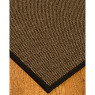 Best Reviews Kerner Border Hand-Woven Brown/Black Area Rug By Bayou Breeze