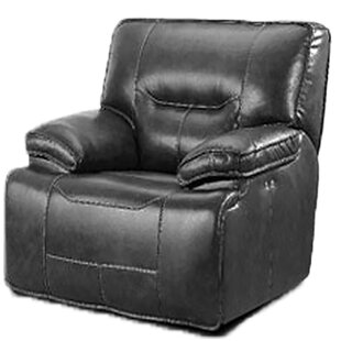 LYKE Home Leather Power Recliner