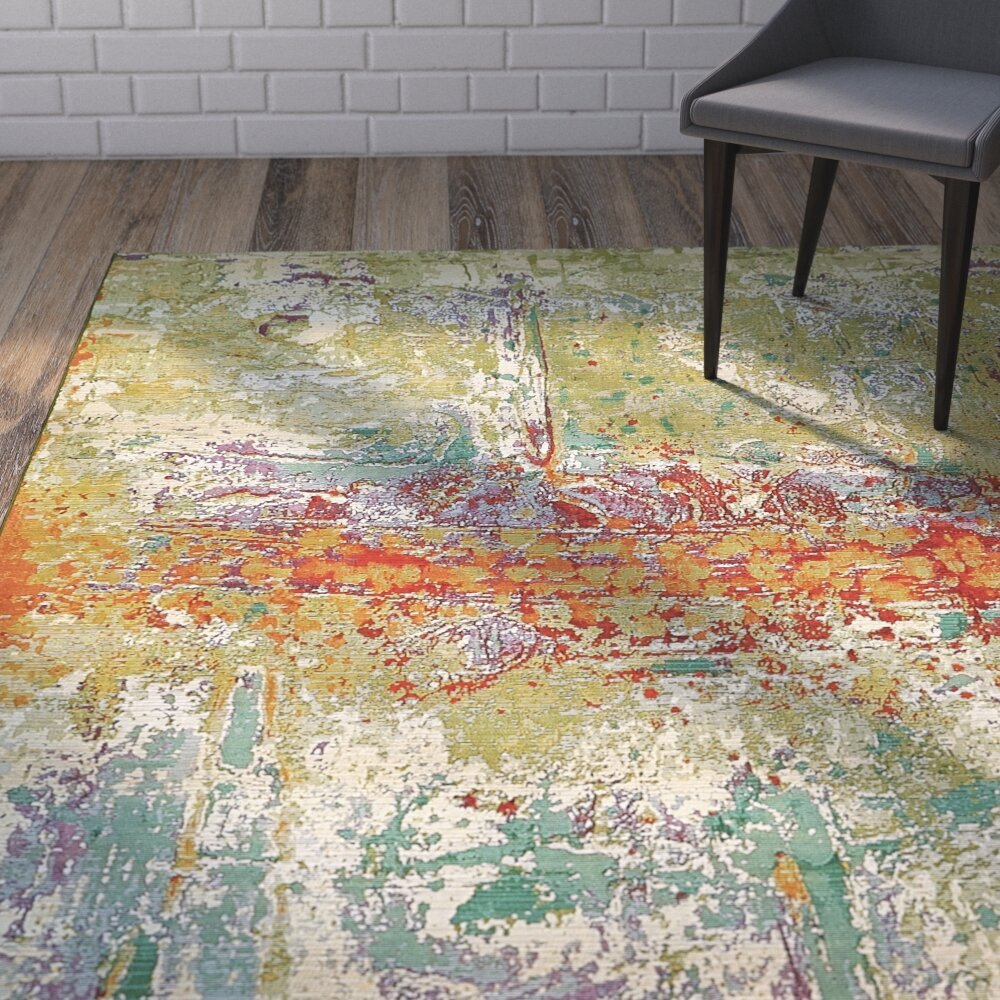 Wade Logan Barone Green Indoor/Outdoor Area Rug & Reviews | Wayfair