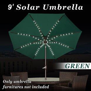 Red Barrel Studio Battista 9' Market Umbrella with LED Light
