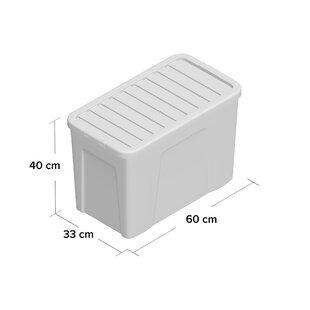 Plastic Storage Box (Set Of 5) By Wayfair Basics