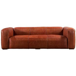 Cory Leather 4 Seater Sofa By Williston Forge