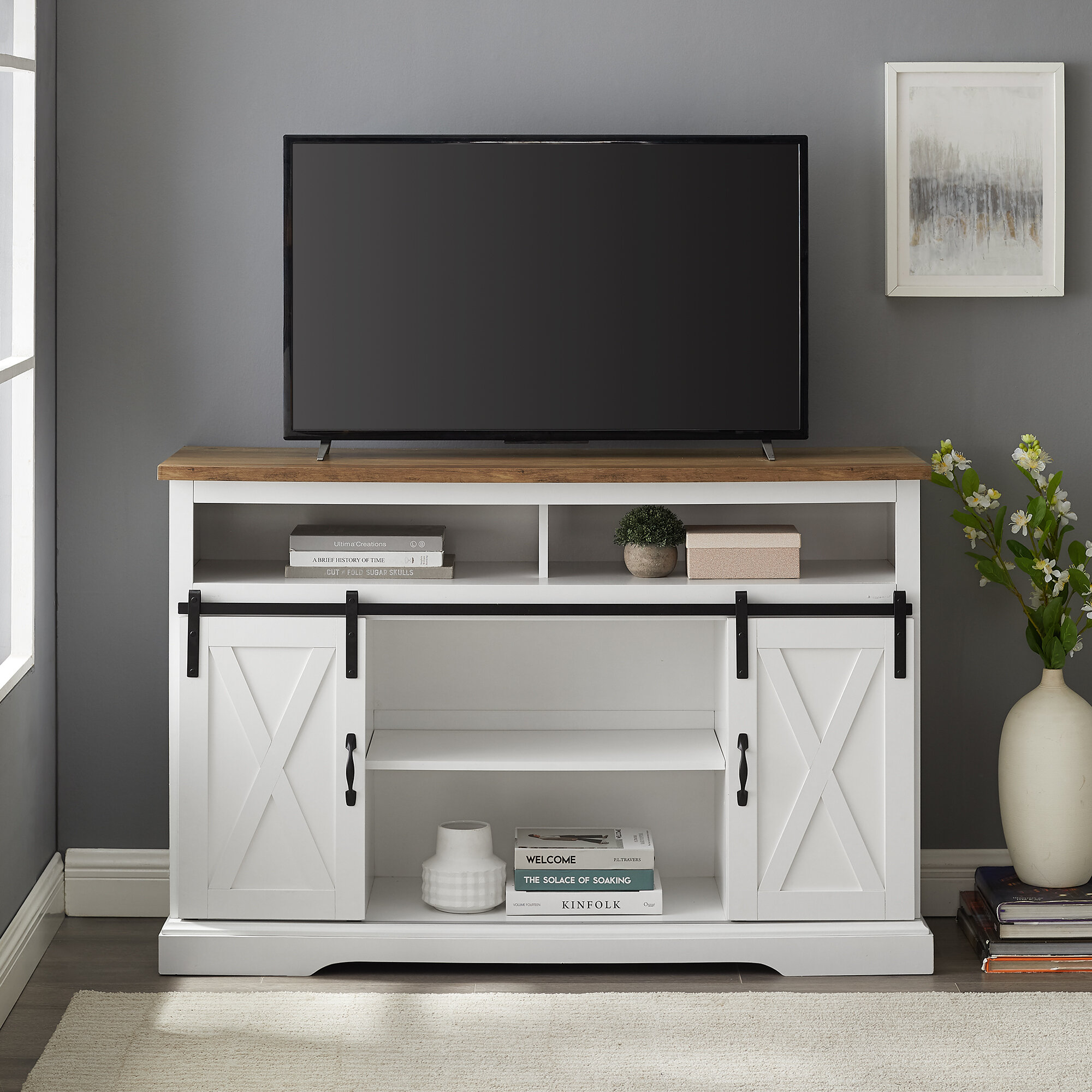 Berene Tv Stand For Tvs Up