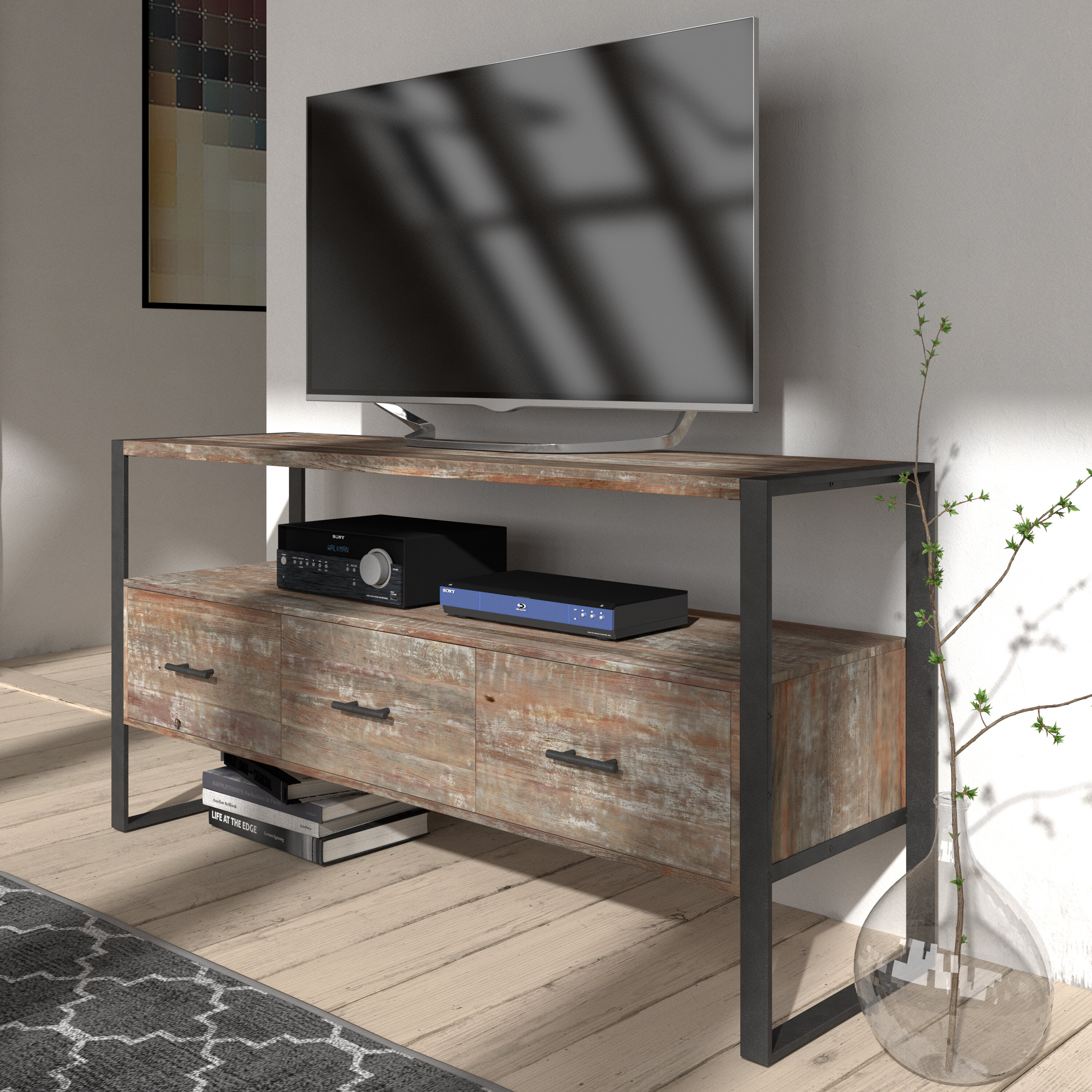 Trent Austin Design Kingon Solid Wood Tv Stand For Tvs Up To 65 Reviews Wayfair
