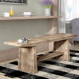 Pauli Wood Bench by Laurel Foundry Modern Farmhouse