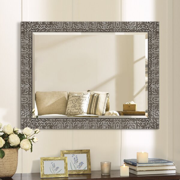 House Of Hampton Lavergne Traditional Beveled Distressed Accent Mirror Reviews Wayfair