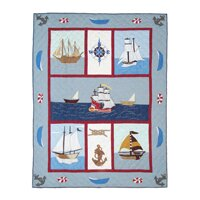 Patch Magic Ships Ahoy Cotton Twin Quilt