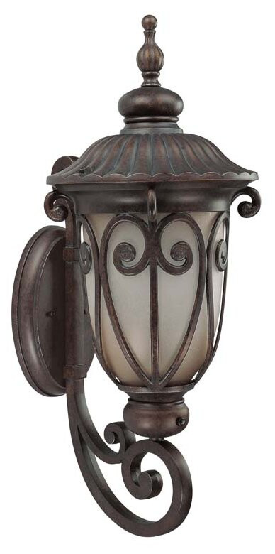 Astoria Grand Devlin Burlwood 1 Bulb Outdoor Wall Lantern Wayfair
