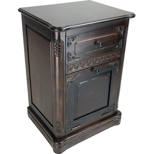Bloomsbury Market Allain Carved 1 Drawer and 1 Door Accent Cabinet