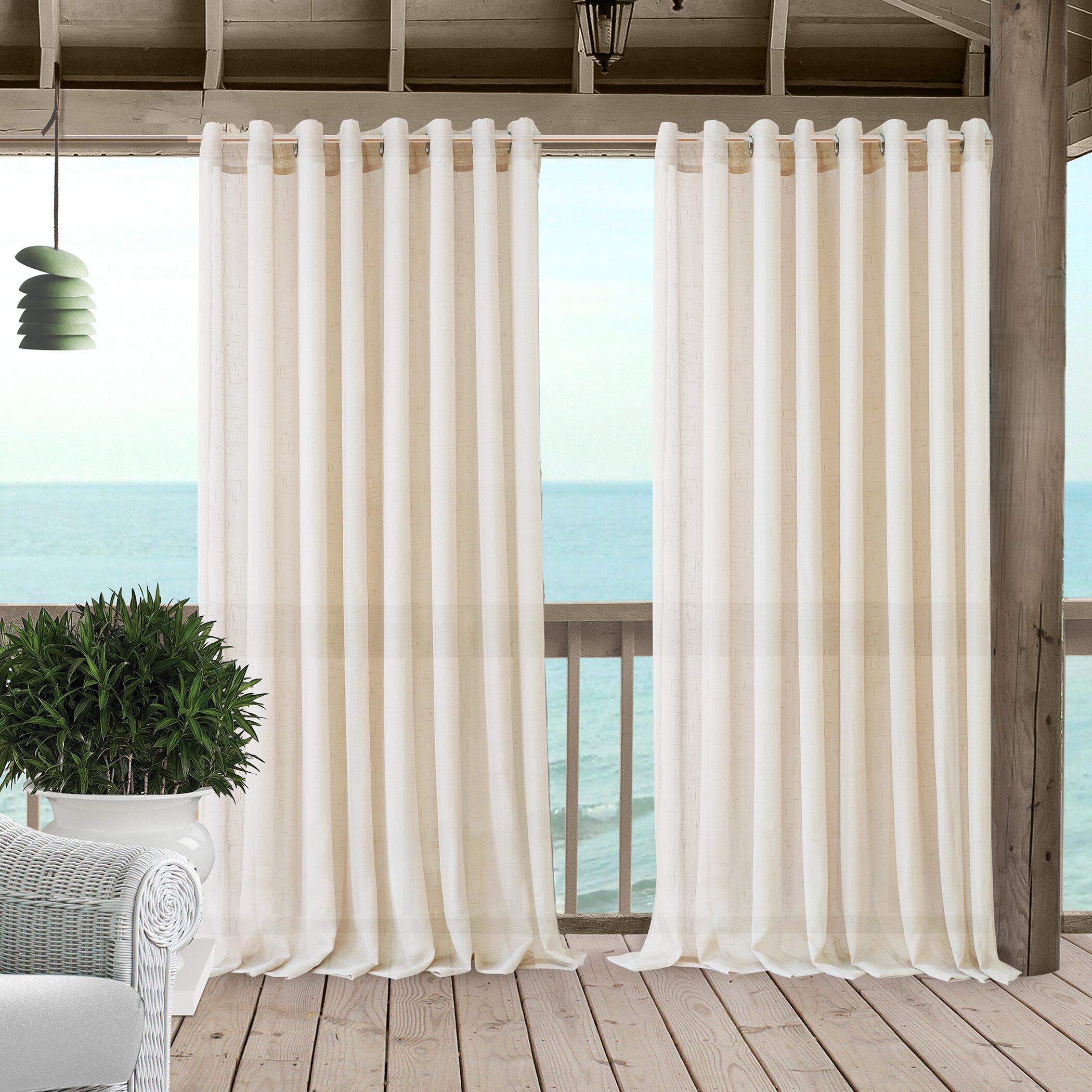 Cedrick Synthetic Solid Sheer Grommet Single Curtain Panel Reviews Joss Main
