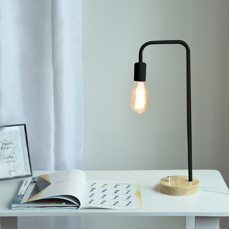 17 Stories Desk Lamp Wooden Industrial Table Lamp For Office Bedroom Living Room Wayfair