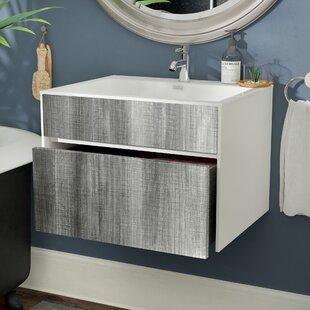 Floating Wall Mounted Bathroom Vanities Youll Love Wayfair - Suspended bathroom vanity