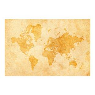 World map wallpaper kids wayfair vintage world map 32m x 480cm wallpaper roll gumiabroncs Image collections