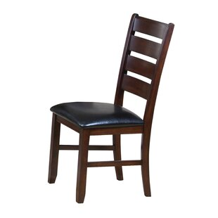 Edwa Leather Upholstered Dining Chair (Set of 2)