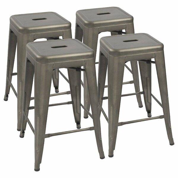 Excellent Floor Mounted Bar Stools Wayfair Customarchery Wood Chair Design Ideas Customarcherynet