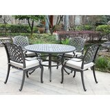 Waddington 5 Piece Sunbrella  Dining Set with Cushions