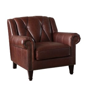 Lucas Leather Club Chair by Williston Forge