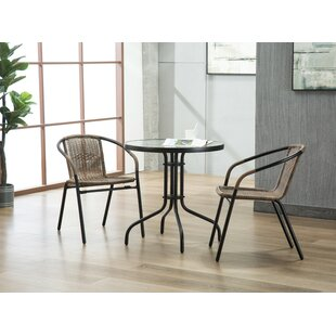 Pineville 3 Piece Bistro Set by Zipcode D..