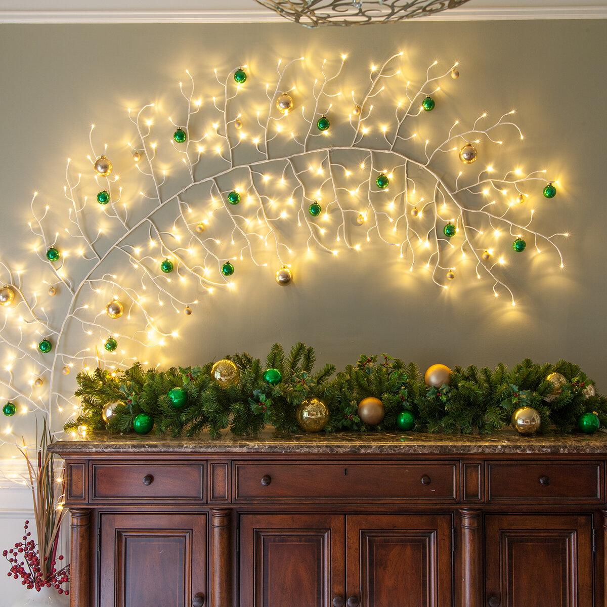 The Holiday Aisle Climbing Vine LED String Lighting & Reviews   Wayfair