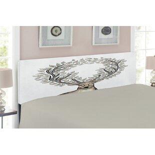 Deer Queen Upholstered Panel Headboard by East Urban Home