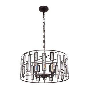 Ebern Designs MoretinMarsh Contemporary 4-Light Drum Pendant