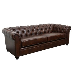 Captivating Harlem Leather Chesterfield Sofa