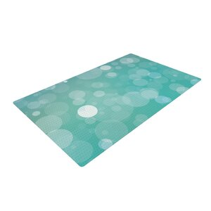 Let It Go Bokeh Aqua Area Rug