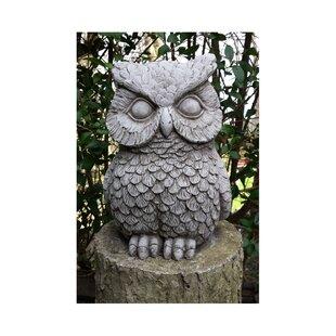Stone Owl Garden Ornaments Owl garden ornaments wayfair owl stone garden statue workwithnaturefo