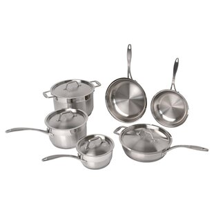 Castle Professional Copper Clad Stainless Steel 10 Piece Cookware Set