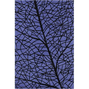 Best Oritz Hand Tufted Wool Blue/Black Area Rug By Brayden Studio