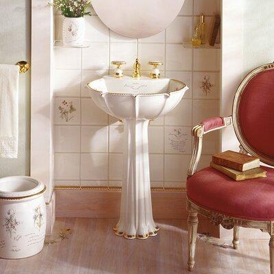 "Bathroom Sinks Pedestal kohler anatole prairie flowers design 22"" pedestal bathroom sink"